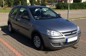 Wypożyczalnia Samochodów Koszalin - klasa B - Opel Corsa C